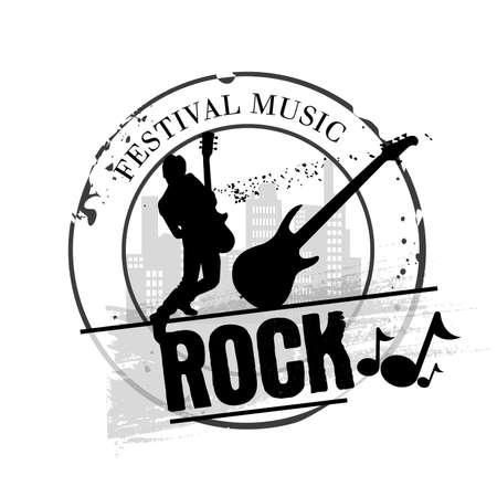 rhythm rhythmic: stamp Rock Illustration