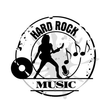 medal hard rock Vector