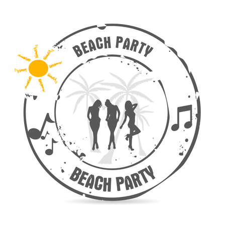 playa mexico: sello Beach Party