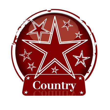 country music: timbro Paese Vettoriali