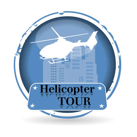 stamp Helicopter Tour Stock Vector - 20989231