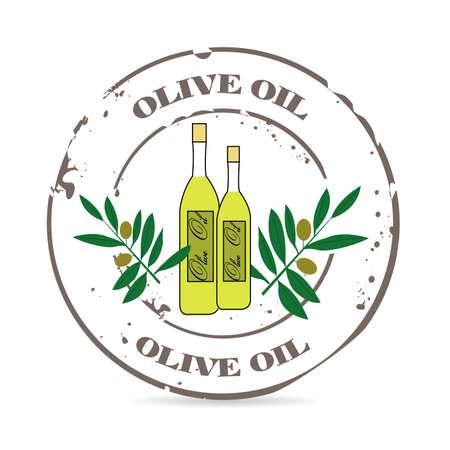 salatdressing: Stempel Oliven�l Illustration