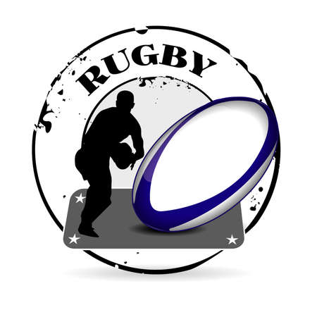 stamp Rugby Vector