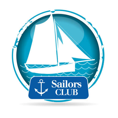 stamp Sailors Club Vector