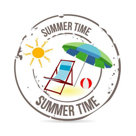 malibu: stamp Summer Time Illustration