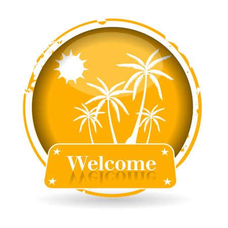 malibu: stamp Welcome