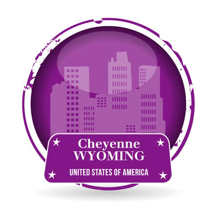 stamp Cheyenne, Wyoming Stock Vector - 20989271