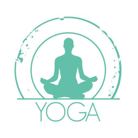 stamp Yoga Vector