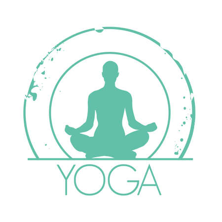 exercices: stamp Yoga Illustration