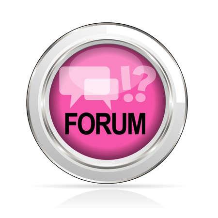 discussion forum: icon forum Illustration