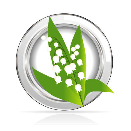 lily of the valley: medal Lily of the Valley Illustration