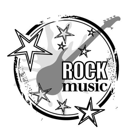 stamp rock music Vector