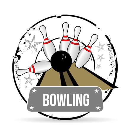 stamp bowling Vector