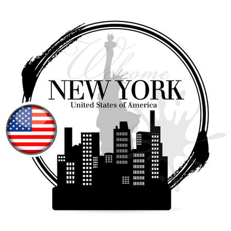 stamp New York Stock Vector - 21587908
