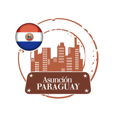 stamp Paraguay Stock Vector - 21587910