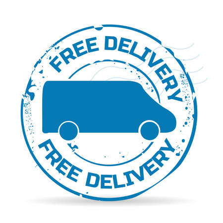 stamp free delivery Vector