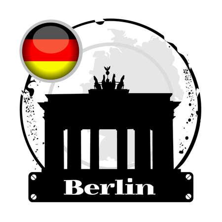 stamp Berlin Vector