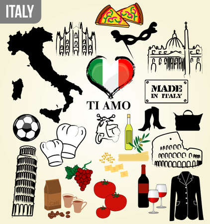 stamps of italy Vector