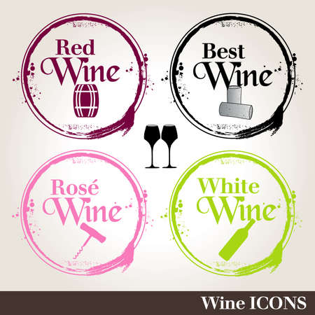 stamps Wine Vector
