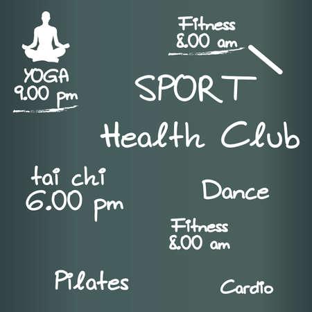 health club: Health Club Illustration