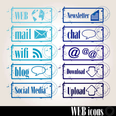 Stamps Web Vector
