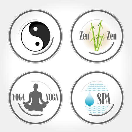 stamps zen and yoga Stock Vector - 23902671
