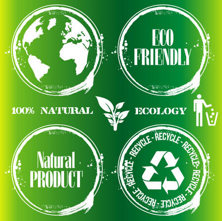 stamp of ecology Vector