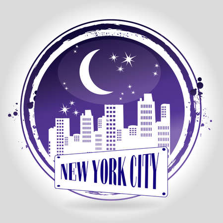 stamp New York City Vector