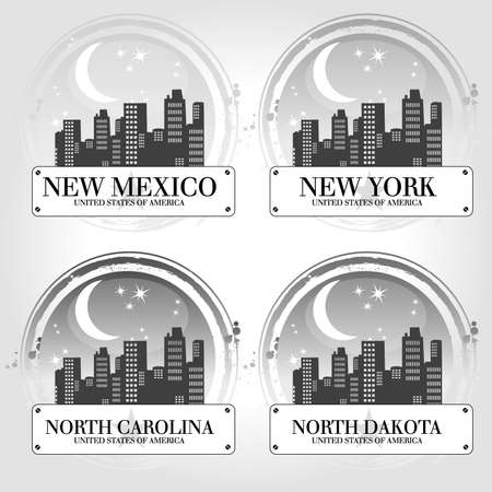 Stamp of 4 american countries Stock Vector - 24168069