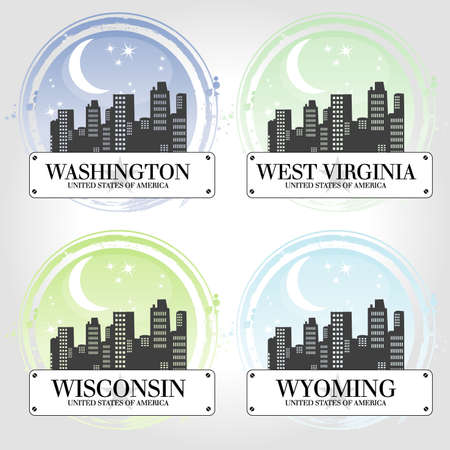 university of wisconsin: Stamp of 4 american countries