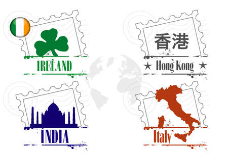 stamp travel Vector