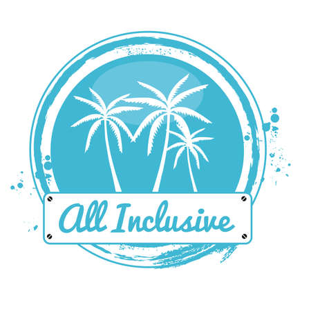 stamp all inclusive Vector