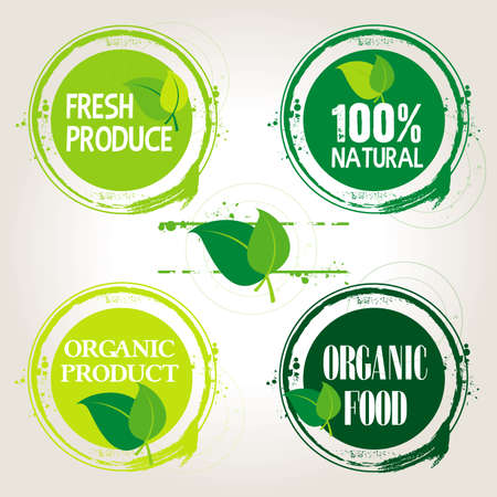 stamp natural product Vector