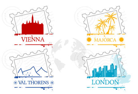 stamps Travel Vector
