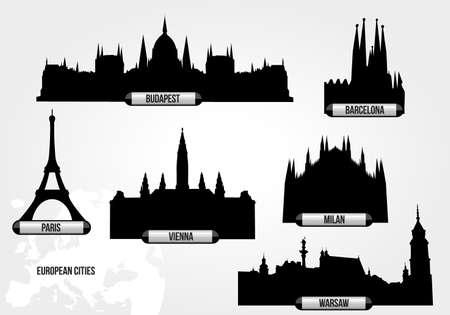 evropský: Evropská města