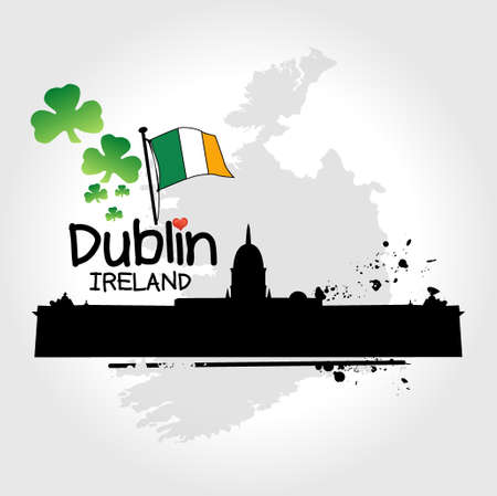 Dublin  illustration  Vector