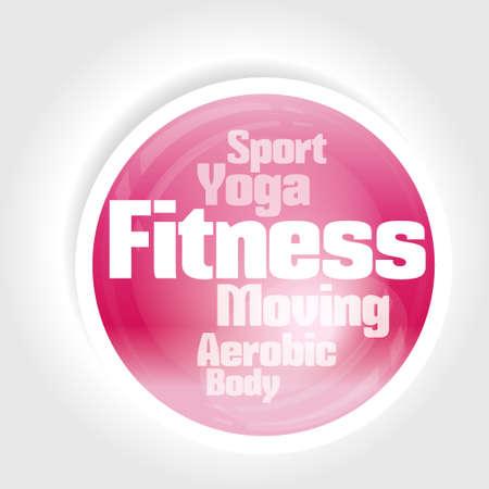 health club: icon fitness illustration  Illustration