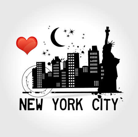 New York City illustration  Vector