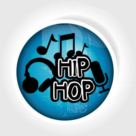 icon hip hop Vector