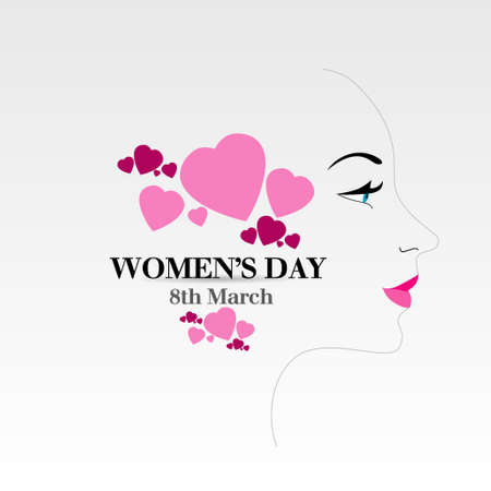 woman isolated: women s day
