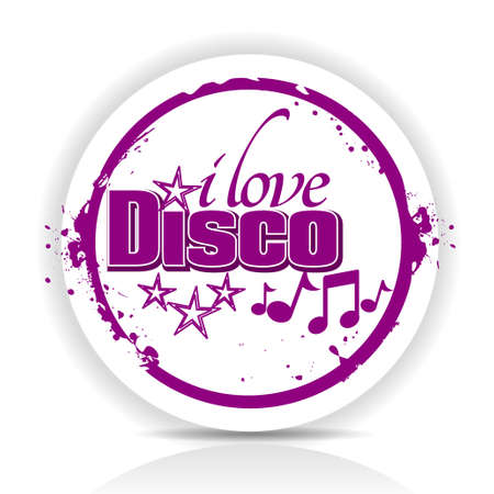 i love disco Vector