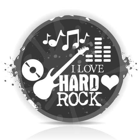 i love hard rock Vector