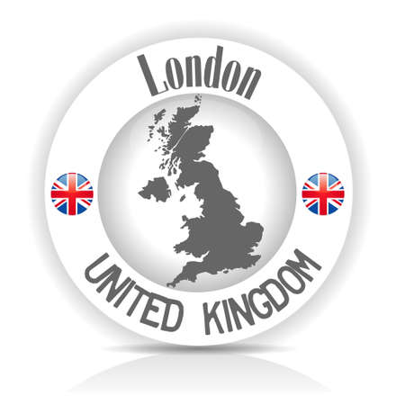 sticker United Kingdom Vector
