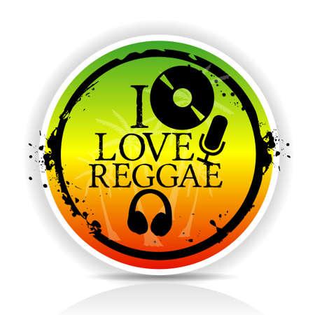 i love reggae Vector