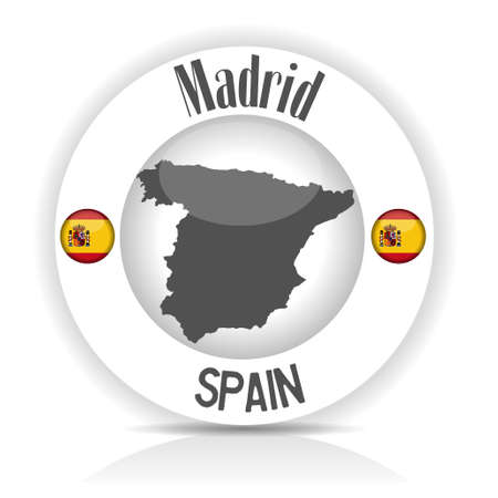 sticker spain Vector