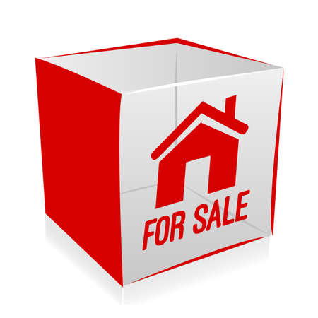 Cube house for sale Vector
