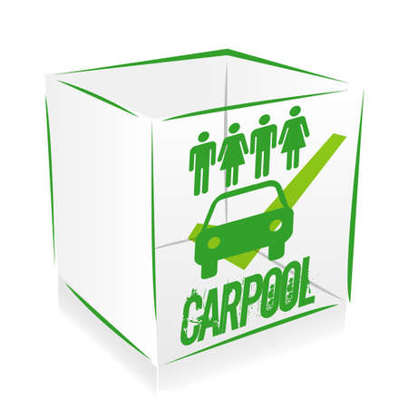 cube carpool Vector