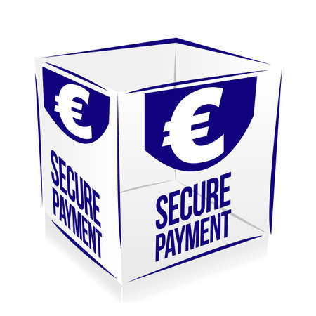 secure payment: cube secure payment Illustration