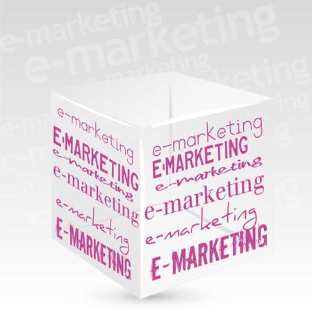 cube e marketing Vector
