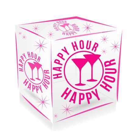 cube happy hour Vector